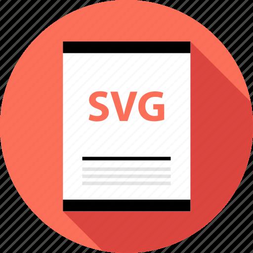 document, file, svg illustrator icon