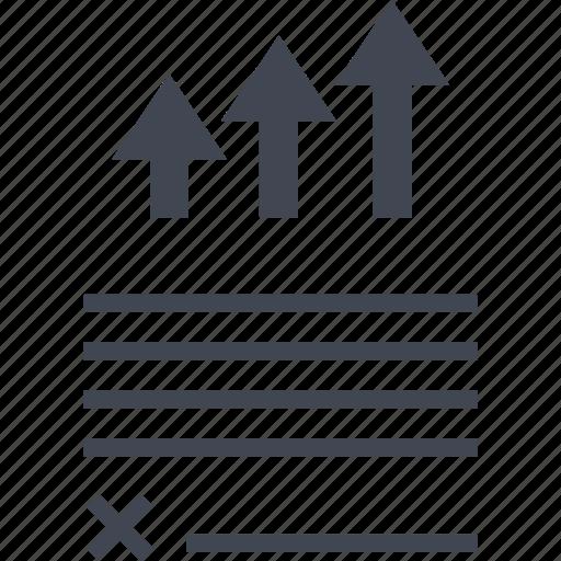 analytics, arrows, data, up icon