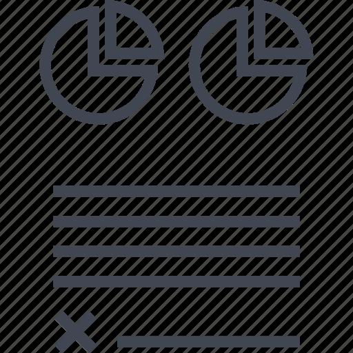 contract, data, graph, report icon