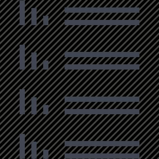 bars, comparison, seo icon