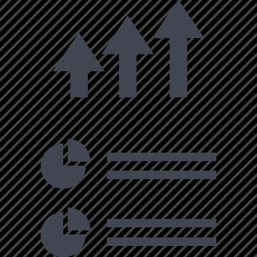 arrows, data, seo, up icon