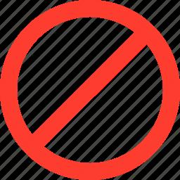 cross, delete, denied, stop icon