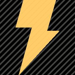 lightning, mark, power, sign icon