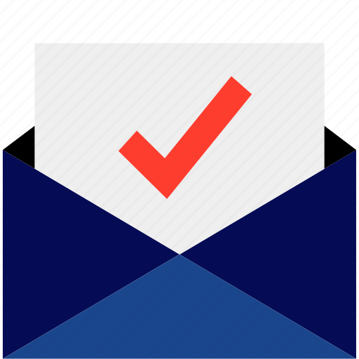 check, email, mail, mark icon