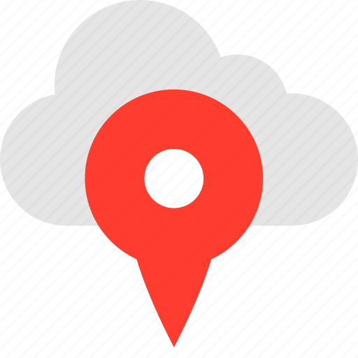 cloud, data, gps, guardar, location, save, user icon
