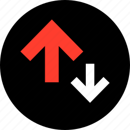 activity, arrows, down, point, up icon