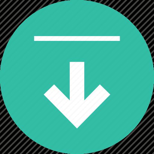 arrow, down, point, ponter icon