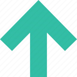 arrow, menu, point, up, upload icon