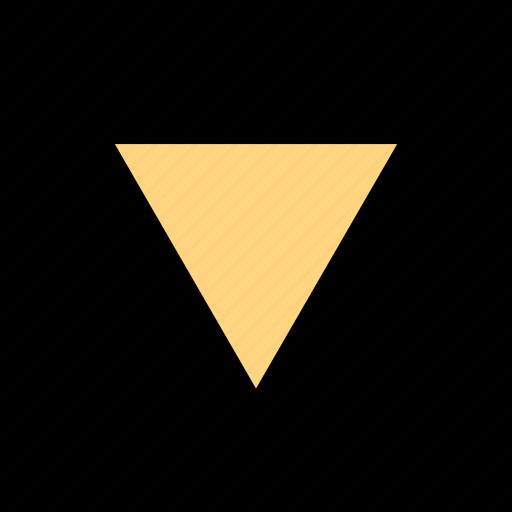 arrow, down, menu, pont icon