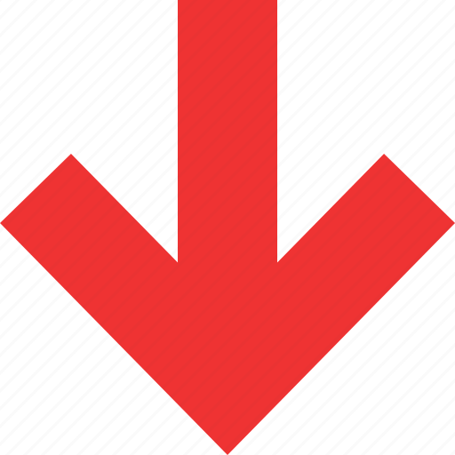 down, menu, navigation, option, pointer icon