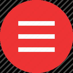 lines, menu, option, setup icon