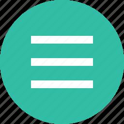 lines, menu, option, settings, setup icon