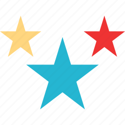 favorite, special, stars, three icon