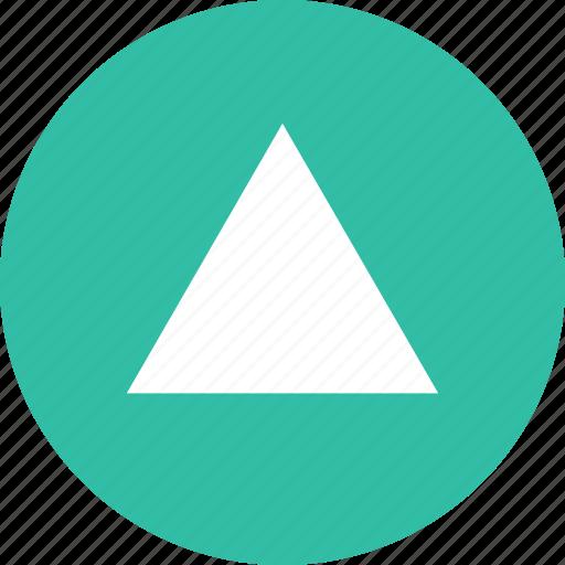arrow, triangle, up, upload icon