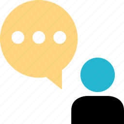 chat, conversation, freind, profile, talk, user icon