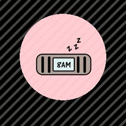 alarm, clock, sleep, sleepy, time, time management, wake up icon