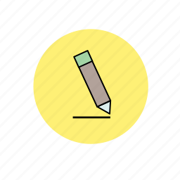 art, drawing, note, paper, pen, pencil, write icon