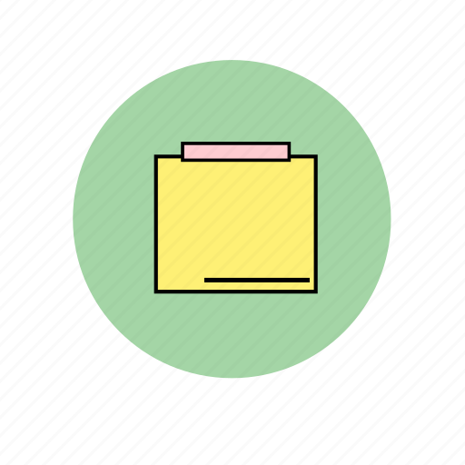 it, note, pad, paper, post, post it, writing icon