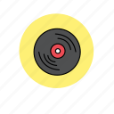 cd, hipster, indie, music, record, song, vinyl icon