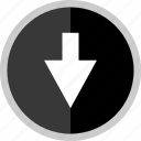 arrow, direction, down, point, pointer icon