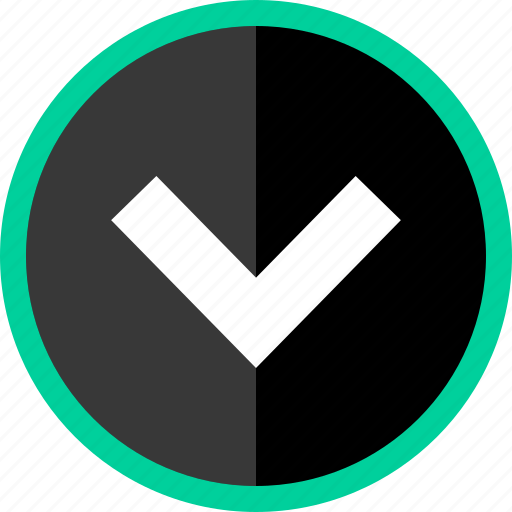 arrow, direction, download, point, pointer icon