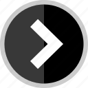 arrow, direction, point, pointer, right icon