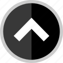 arrow, direction, point, pointer, uploading icon