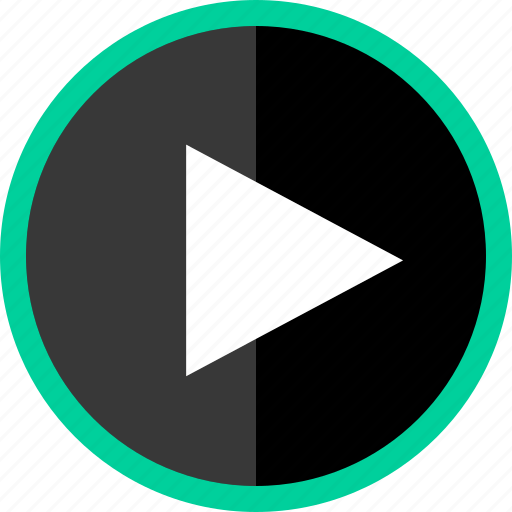 arrow, direction, play, point, pointer, video icon