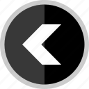 arrow, back, direction, exit, point, pointer icon