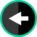 arrow, back, direction, exiting, point, pointer icon