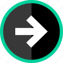 arrow, direction, go, point, pointer icon
