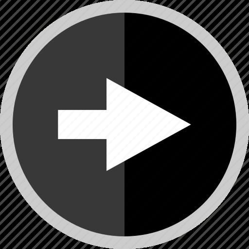 arrow, direction, next, point, pointer icon