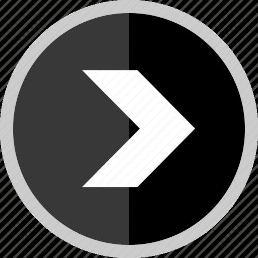 arrow, direction, go, next, point, pointer icon