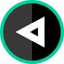 arrow, direction, left, point, pointer, triangle icon