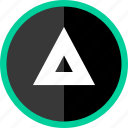 arrow, direction, point, pointer, triangle, up icon