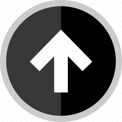 arrow, direction, point, pointer, up icon
