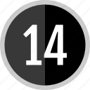 chart, count, fourteen, number icon