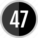 chart, count, fourty, number, seven icon