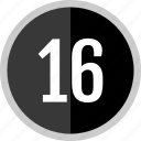 chart, count, number, sixteen icon