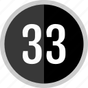 chart, count, number, thirty, three icon