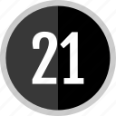chart, count, number, one, twenty icon