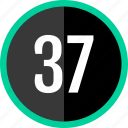 chart, count, number, seven, thirty icon