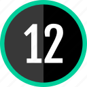 chart, count, number, twelve icon