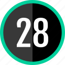 chart, count, eight, number, twenty icon