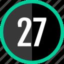 chart, count, number, seven, twenty icon