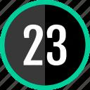 chart, count, number, three, twenty icon