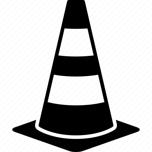 cone, construction, highway, pylon, road, safety, traffic icon