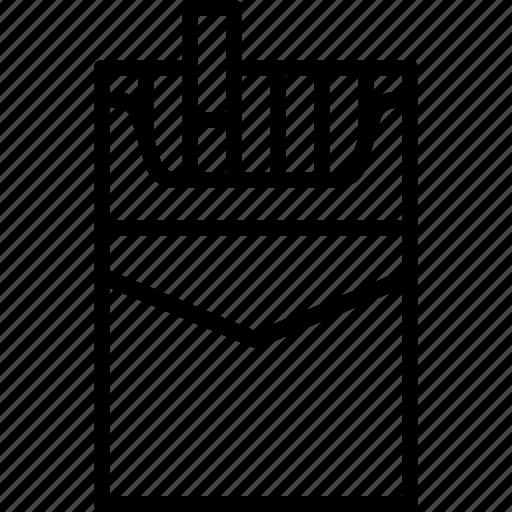 box, cigaret, cigarette, cigarettes, pack, smoking, tobacco icon