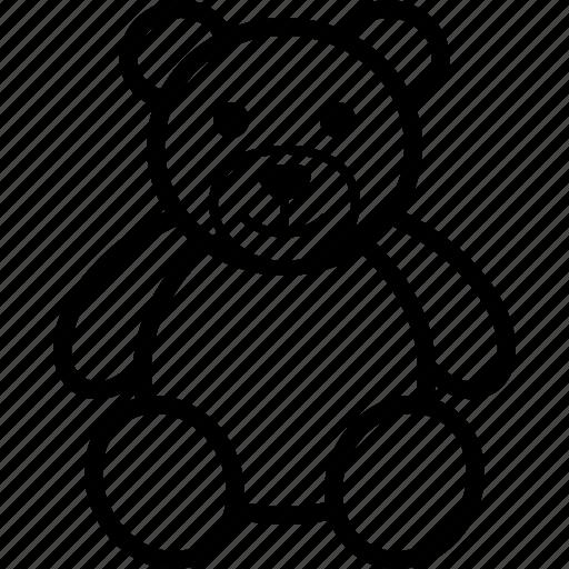 animal, bear, plush, soft, stuffed, teddy, toy icon