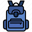 backpack, bag, baggage, education, high, luggage, school